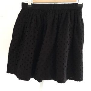 & Other Stories Black Mini Skirt